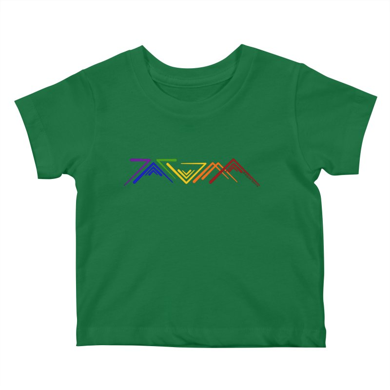 Angular Tacoma  - Modern Rainbow Pride Kids Baby T-Shirt by SymerSpace Art Shop
