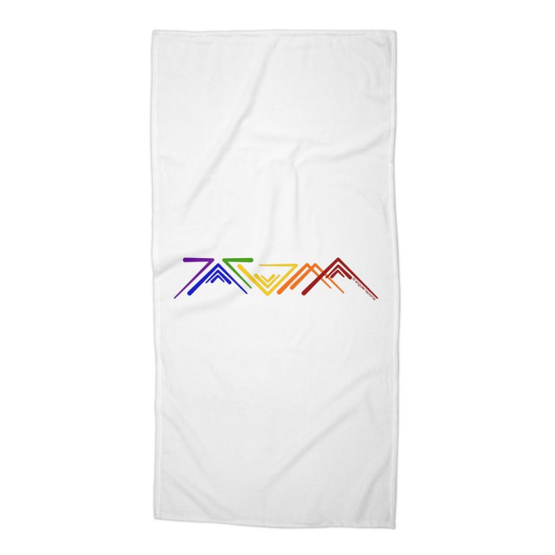 Angular Tacoma  - Modern Rainbow Pride Accessories Beach Towel by SymerSpace Art Shop