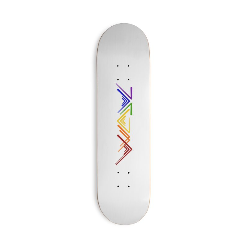 Angular Tacoma  - Modern Rainbow Pride Accessories Skateboard by SymerSpace Art Shop