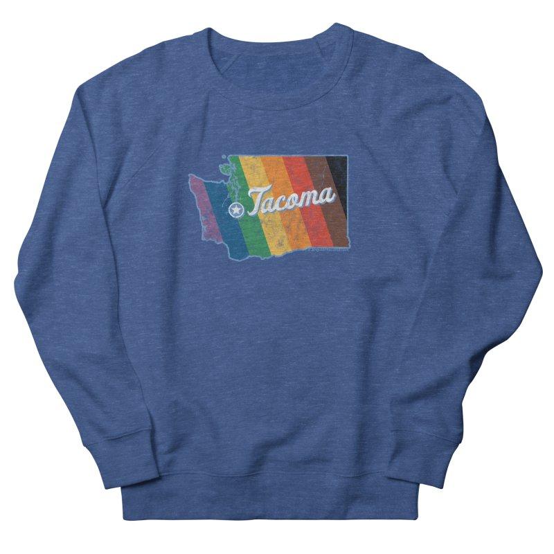 Tacoma WA Rainbow Pride Map Men's Sweatshirt by SymerSpace Art Shop