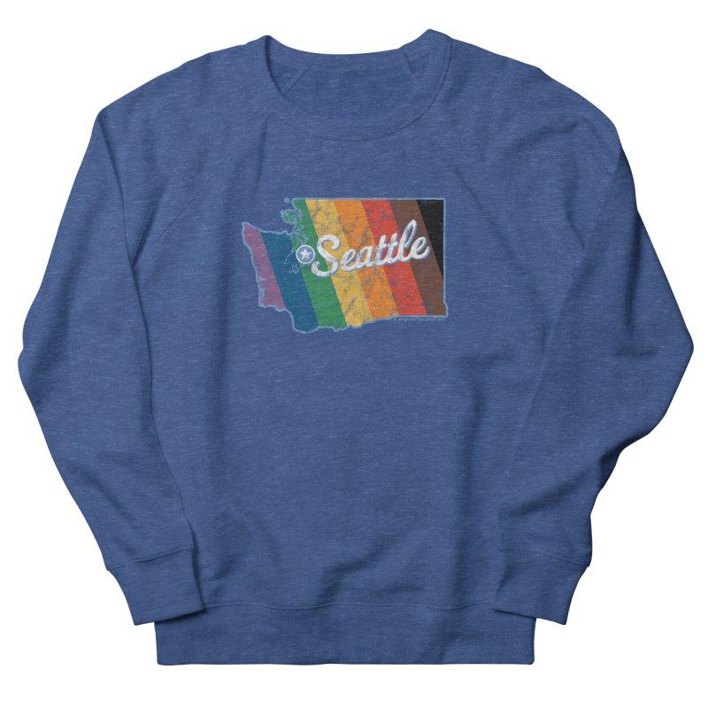 Seattle WA Rainbow Pride Map Men's Sweatshirt by SymerSpace Art Shop