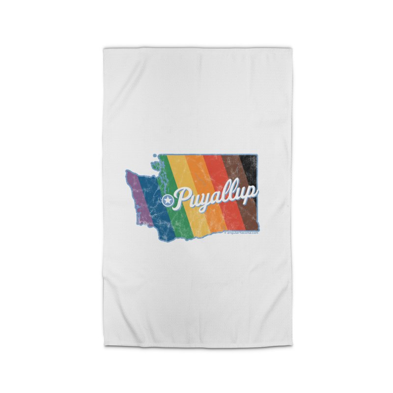 Puyallup WA Rainbow Pride Map Home Rug by SymerSpace Art Shop