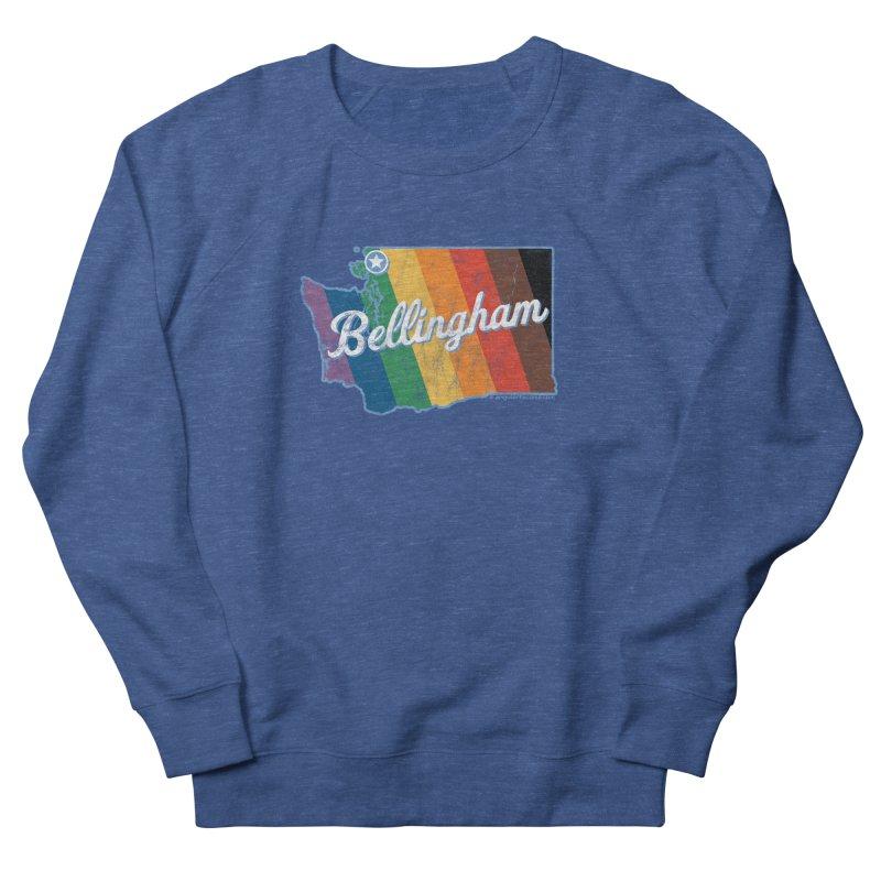 Bellingham WA Rainbow Pride Map Men's Sweatshirt by SymerSpace Art Shop