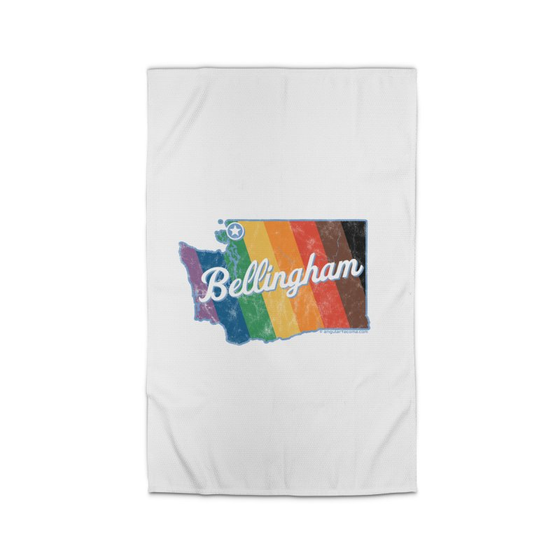 Bellingham WA Rainbow Pride Map Home Rug by SymerSpace Art Shop