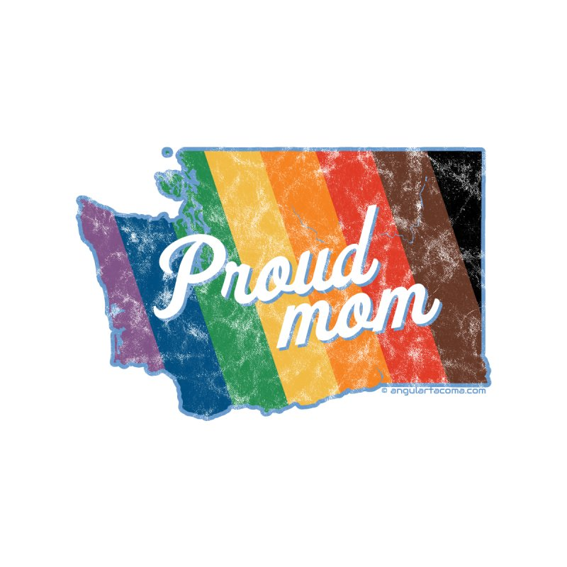Proud Mom WA Rainbow Pride Map Accessories Beach Towel by SymerSpace Art Shop