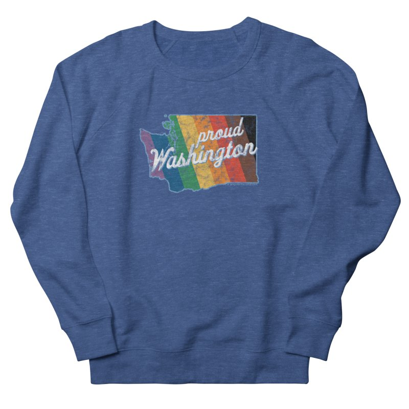 Proud Washington WA Rainbow Pride Map Men's Sweatshirt by SymerSpace Art Shop