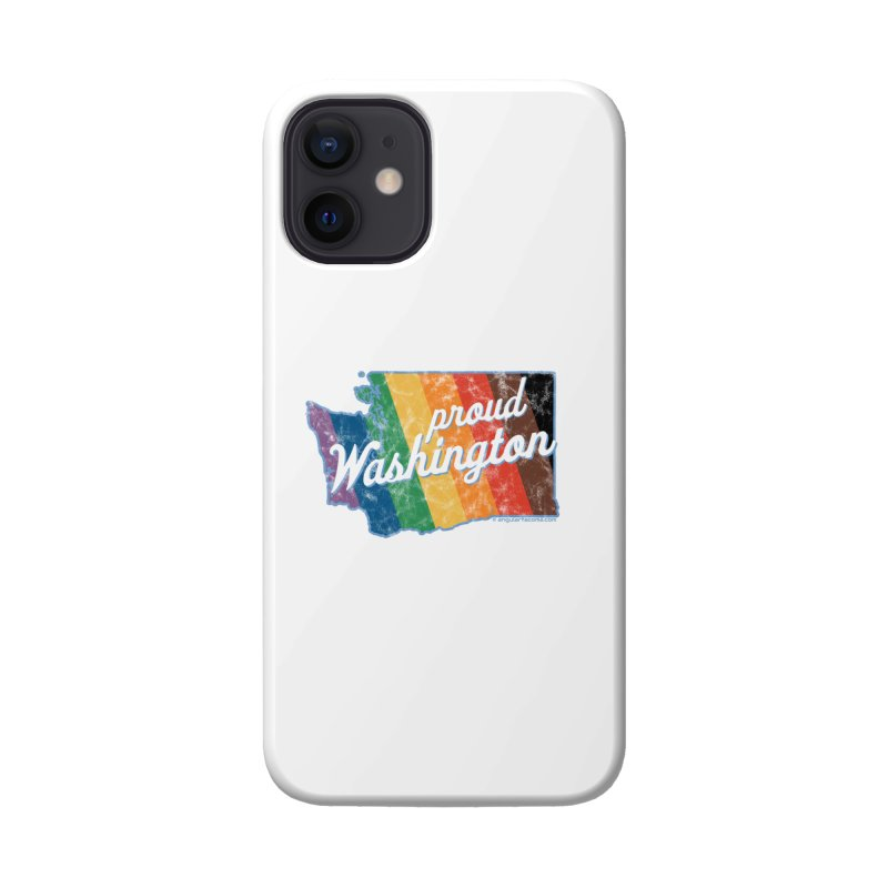 Proud Washington WA Rainbow Pride Map Accessories Phone Case by SymerSpace Art Shop