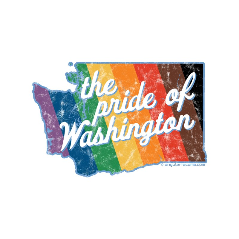 The Pride of Washington WA Rainbow Pride Map Home Duvet by SymerSpace Art Shop