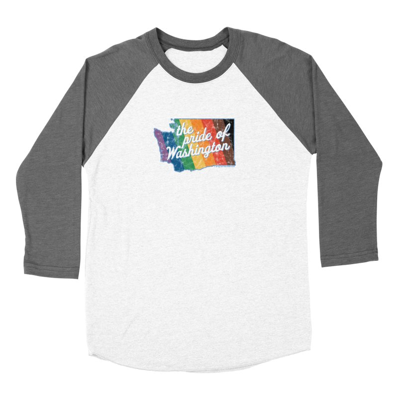 The Pride of Washington WA Rainbow Pride Map Women's Longsleeve T-Shirt by SymerSpace Art Shop
