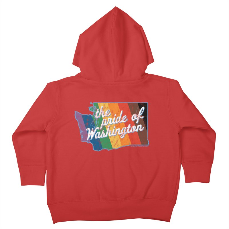 The Pride of Washington WA Rainbow Pride Map Kids Toddler Zip-Up Hoody by SymerSpace Art Shop