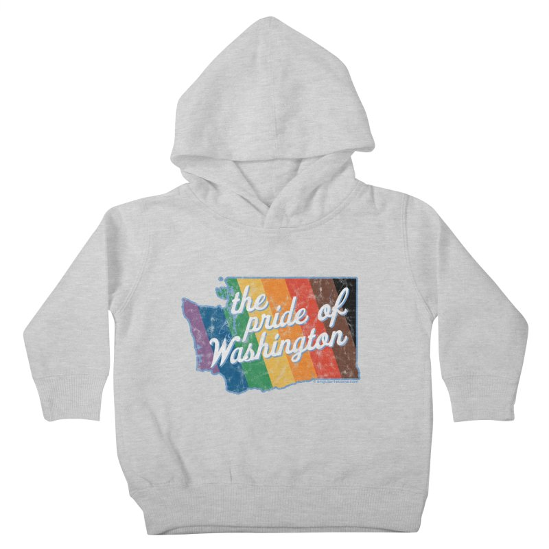 The Pride of Washington WA Rainbow Pride Map Kids Toddler Pullover Hoody by SymerSpace Art Shop