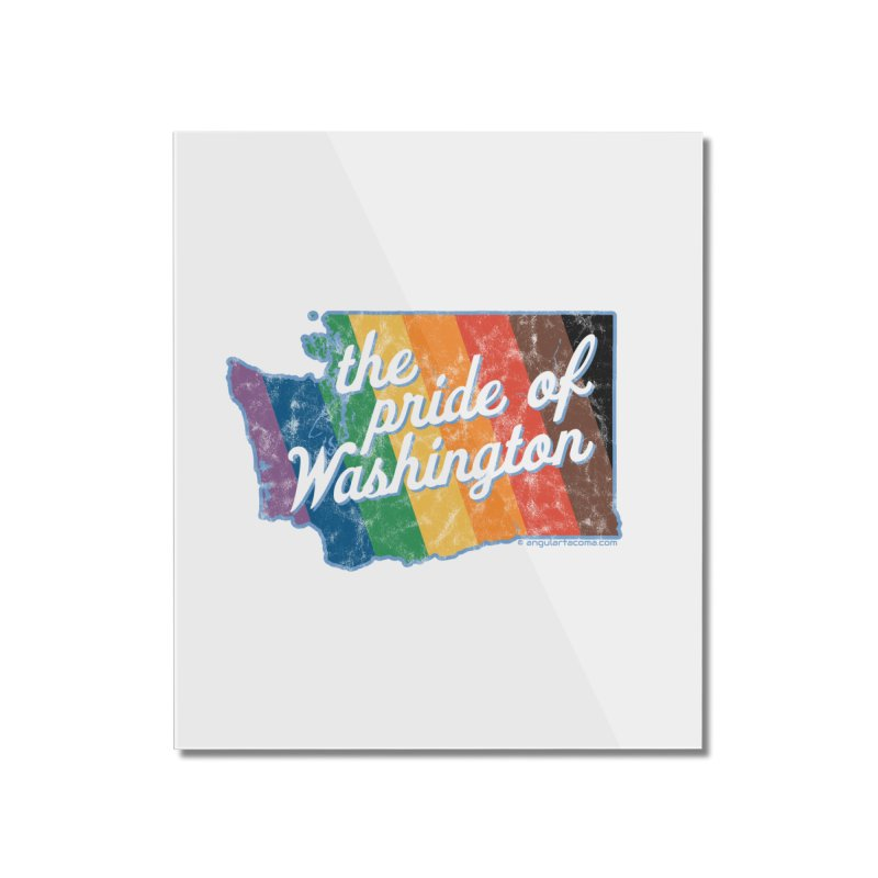 The Pride of Washington WA Rainbow Pride Map Home Mounted Acrylic Print by SymerSpace Art Shop