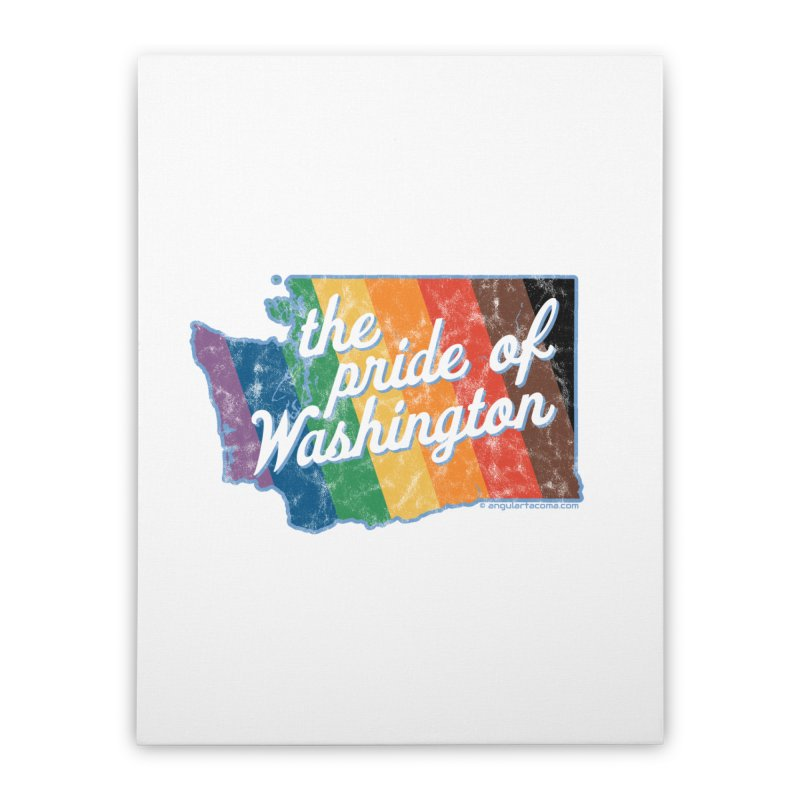 The Pride of Washington WA Rainbow Pride Map Home Stretched Canvas by SymerSpace Art Shop