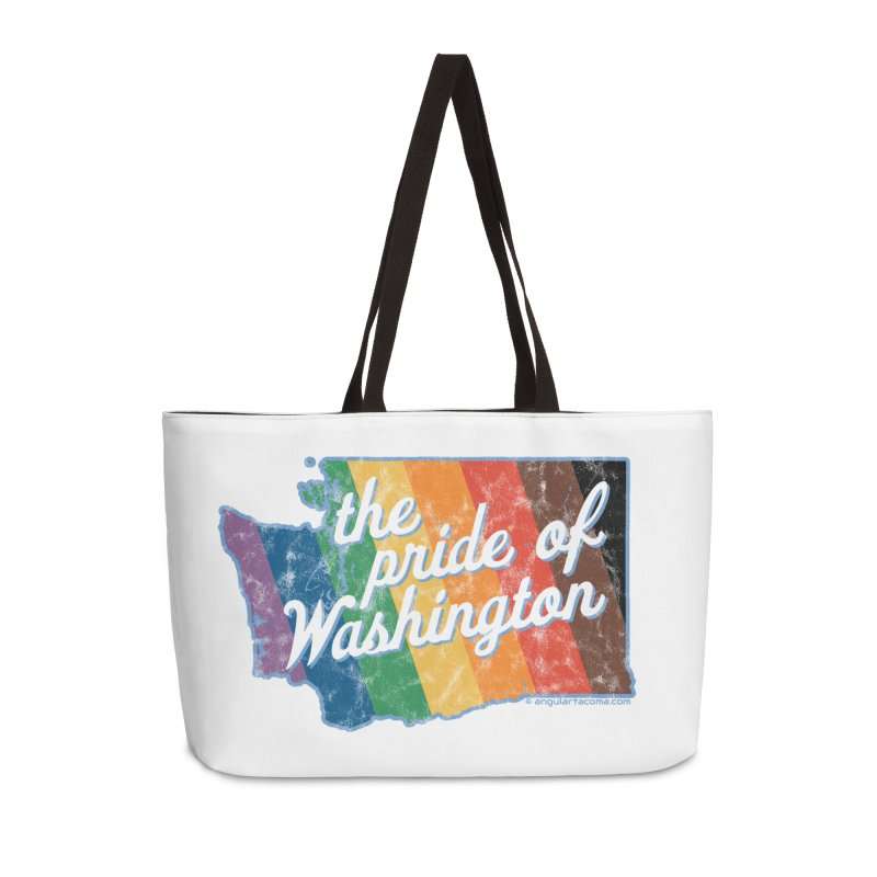 The Pride of Washington WA Rainbow Pride Map Accessories Bag by SymerSpace Art Shop
