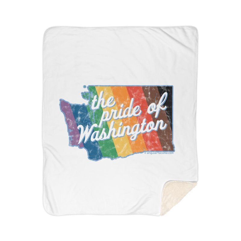 The Pride of Washington WA Rainbow Pride Map Home Blanket by SymerSpace Art Shop