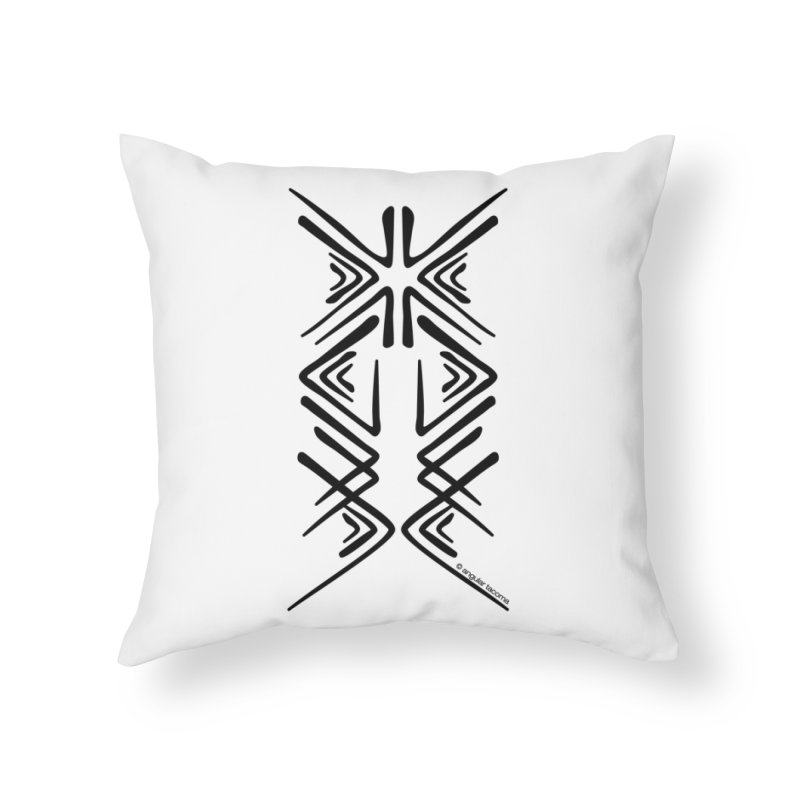 Angular Tacoma - Salish inkblot dark Home Throw Pillow by SymerSpace Art Shop
