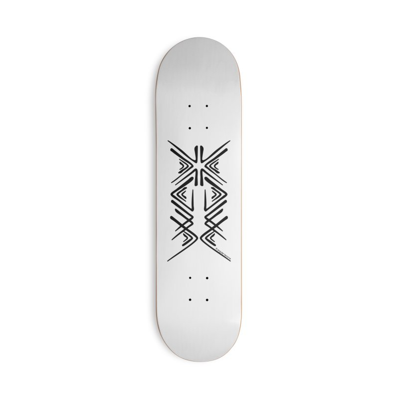 Angular Tacoma - Salish inkblot dark Accessories Skateboard by SymerSpace Art Shop