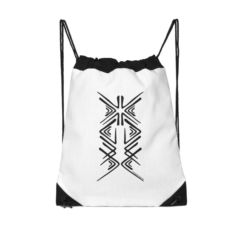 Angular Tacoma - Salish inkblot dark Accessories Bag by SymerSpace Art Shop