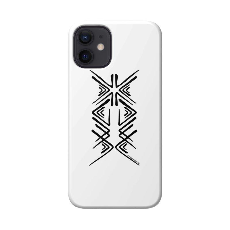 Angular Tacoma - Salish inkblot dark Accessories Phone Case by SymerSpace Art Shop