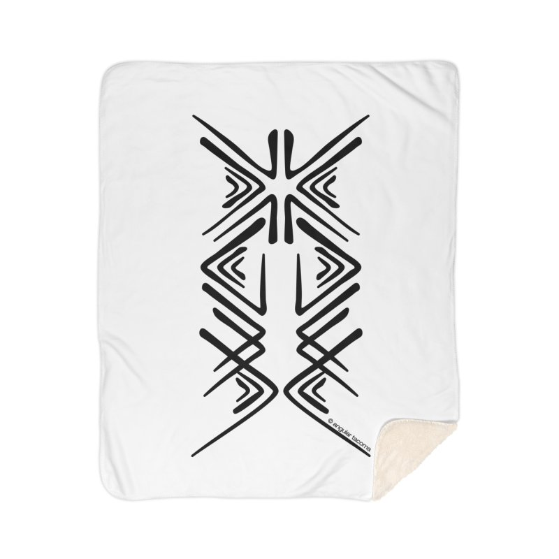 Angular Tacoma - Salish inkblot dark Home Blanket by SymerSpace Art Shop