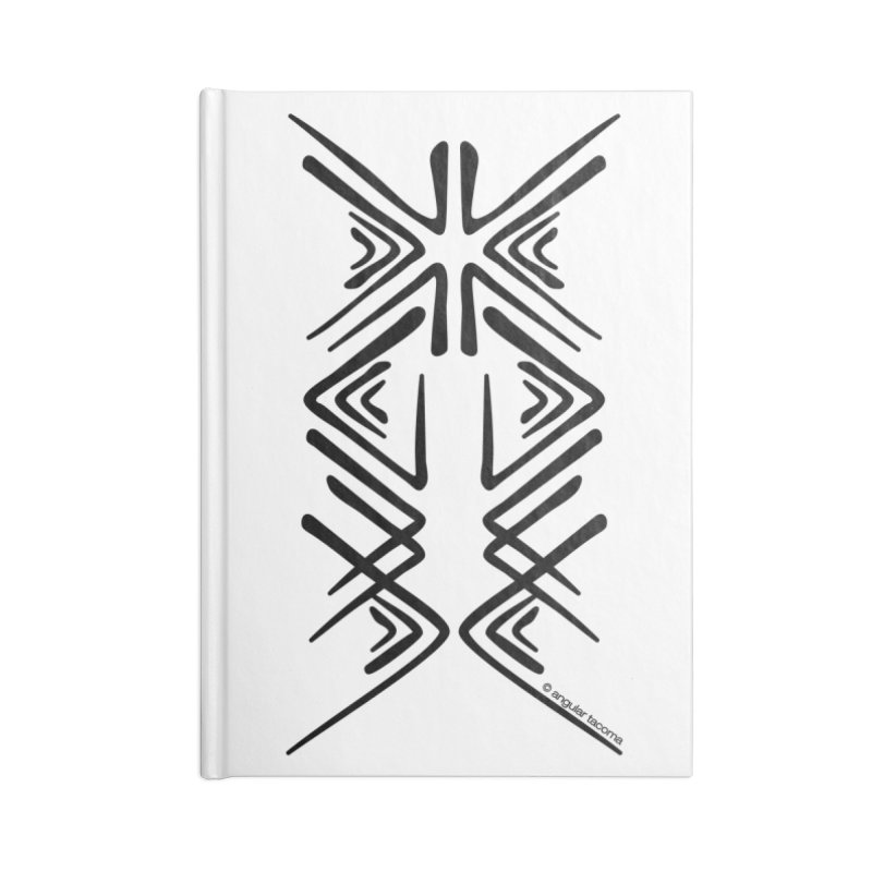 Angular Tacoma - Salish inkblot dark Accessories Notebook by SymerSpace Art Shop