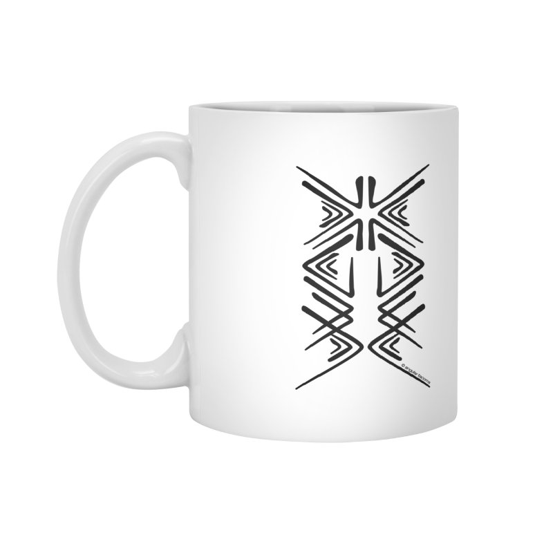 Angular Tacoma - Salish inkblot dark Accessories Mug by SymerSpace Art Shop