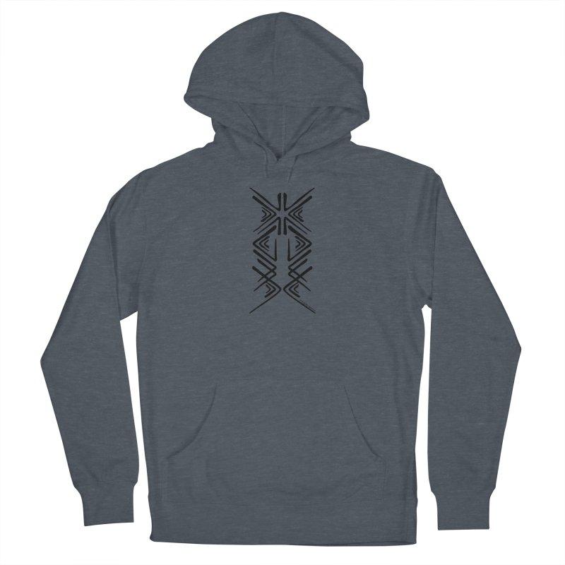 Angular Tacoma - Salish inkblot dark Men's Pullover Hoody by SymerSpace Art Shop