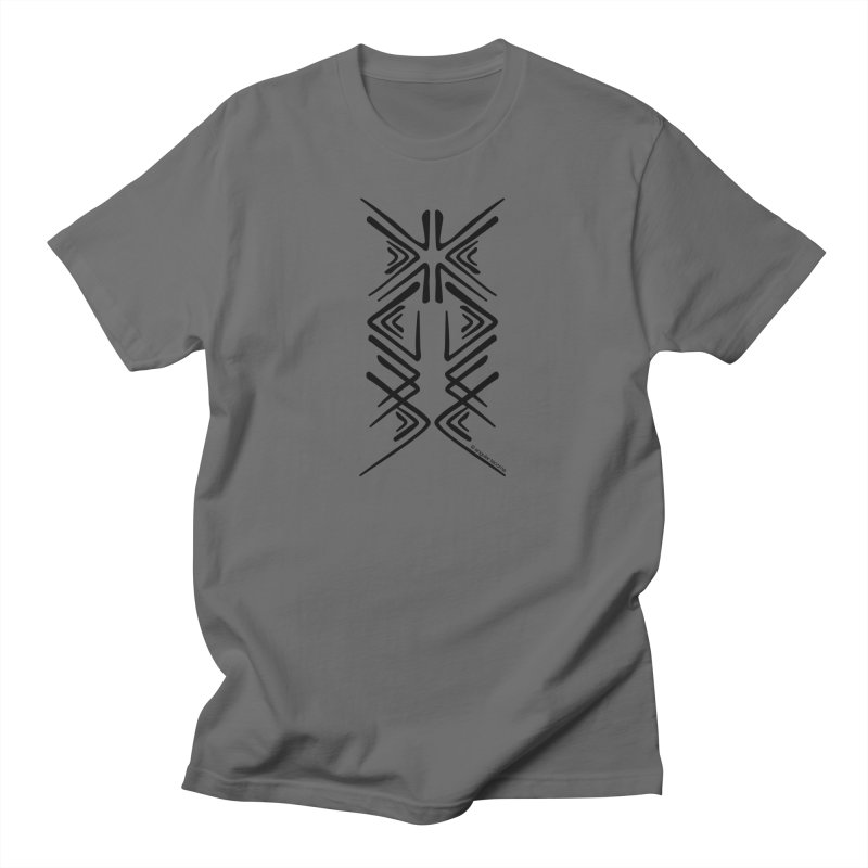 Angular Tacoma - Salish inkblot dark Men's T-Shirt by SymerSpace Art Shop