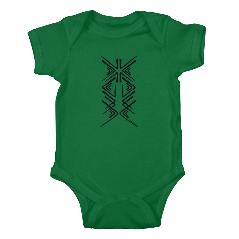 Angular Tacoma - Salish inkblot dark Kids Baby Bodysuit by SymerSpace Art Shop