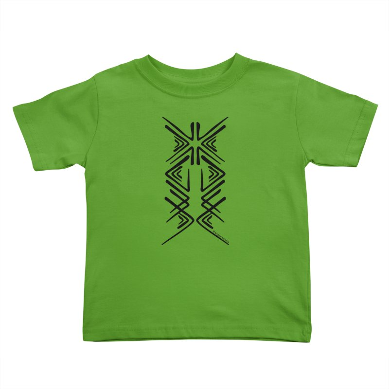 Angular Tacoma - Salish inkblot dark Kids Toddler T-Shirt by SymerSpace Art Shop