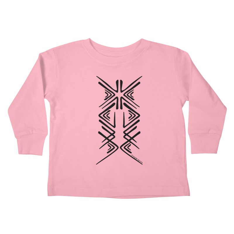 Angular Tacoma - Salish inkblot dark Kids Toddler Longsleeve T-Shirt by SymerSpace Art Shop