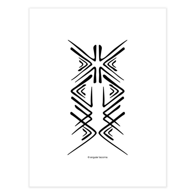 Angular Tacoma - Salish inkblot dark Home Fine Art Print by SymerSpace Art Shop