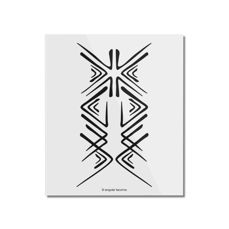 Angular Tacoma - Salish inkblot dark Home Mounted Acrylic Print by SymerSpace Art Shop