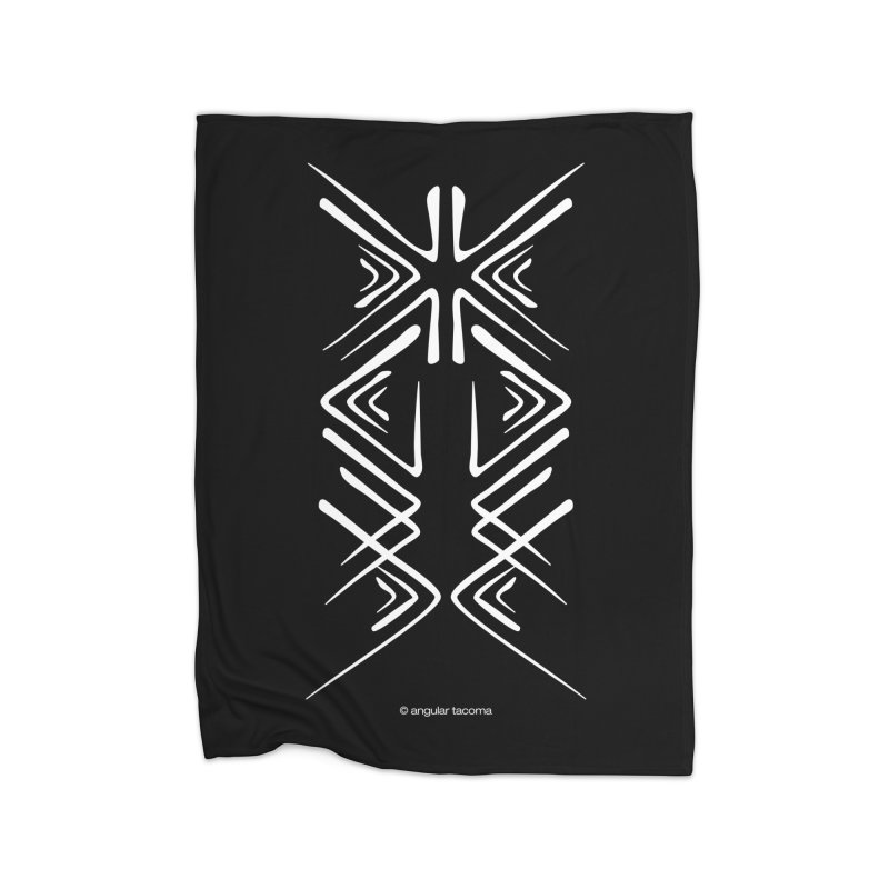 Angular Tacoma - Salish inkblot light Home Blanket by SymerSpace Art Shop