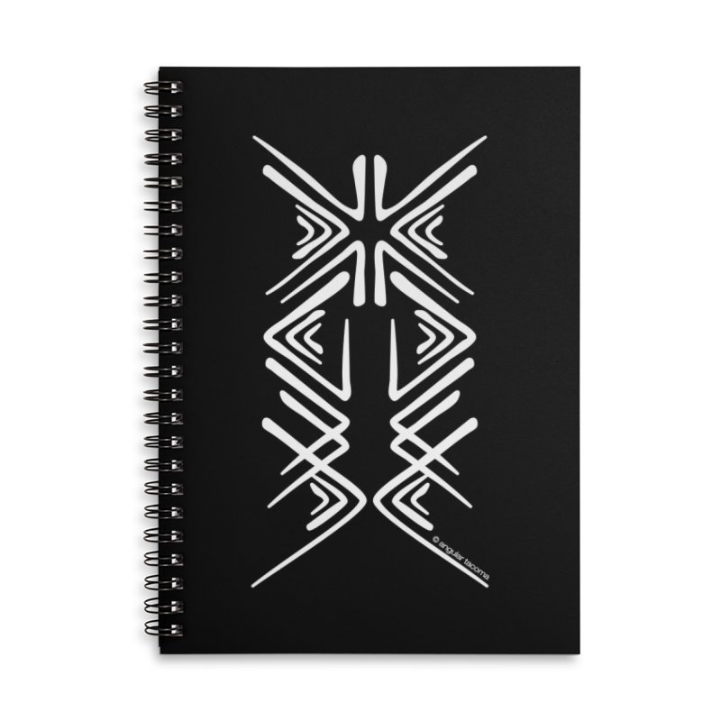 Angular Tacoma - Salish inkblot light Accessories Notebook by SymerSpace Art Shop