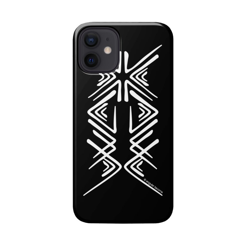 Angular Tacoma - Salish inkblot light Accessories Phone Case by SymerSpace Art Shop