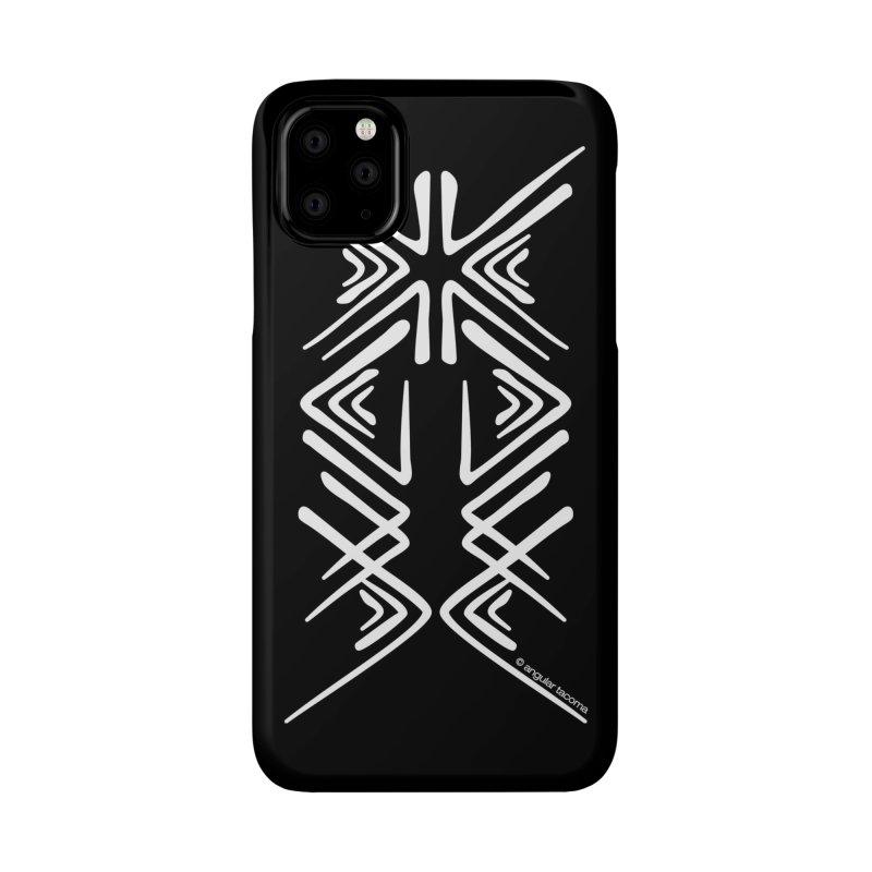 Angular Tacoma - Salish inkblot light Accessories Phone Case by SymerSpace Art Shop