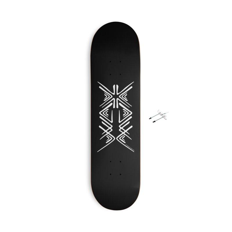 Angular Tacoma - Salish inkblot light Accessories Skateboard by SymerSpace Art Shop