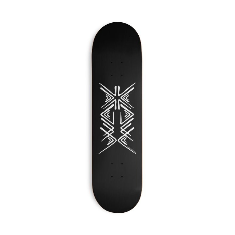 Angular Tacoma - Salish inkblot light Accessories Skateboard by SymerSpace Art Shop