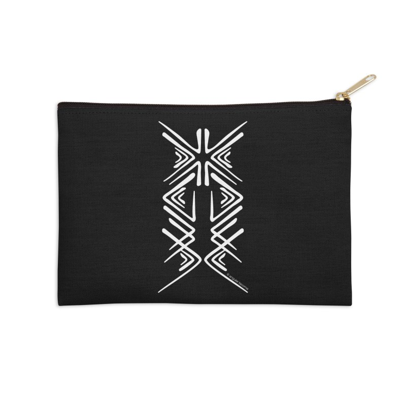 Angular Tacoma - Salish inkblot light Accessories Zip Pouch by SymerSpace Art Shop