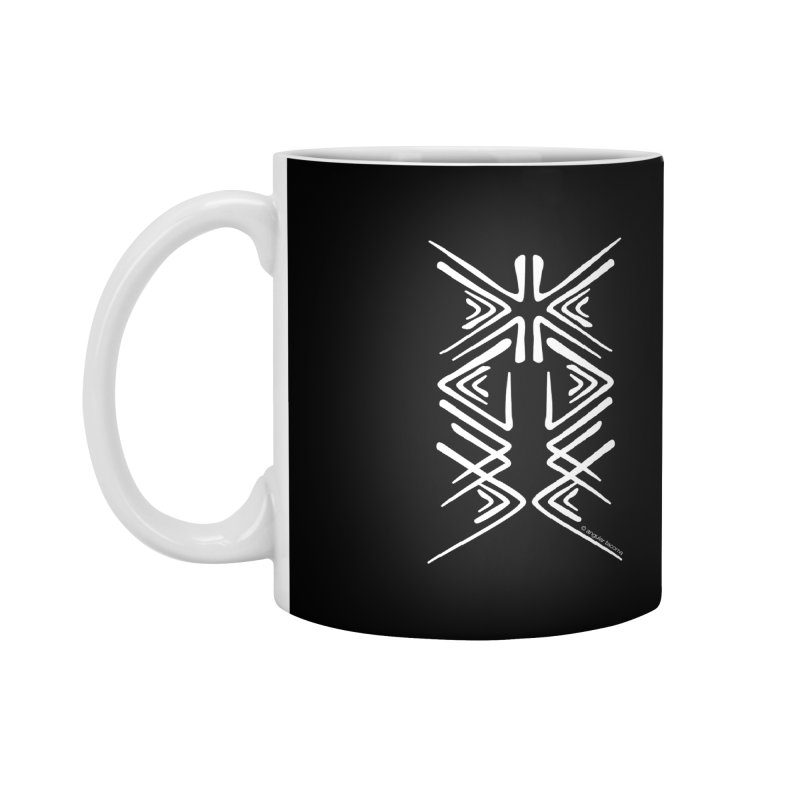 Angular Tacoma - Salish inkblot light Accessories Mug by SymerSpace Art Shop