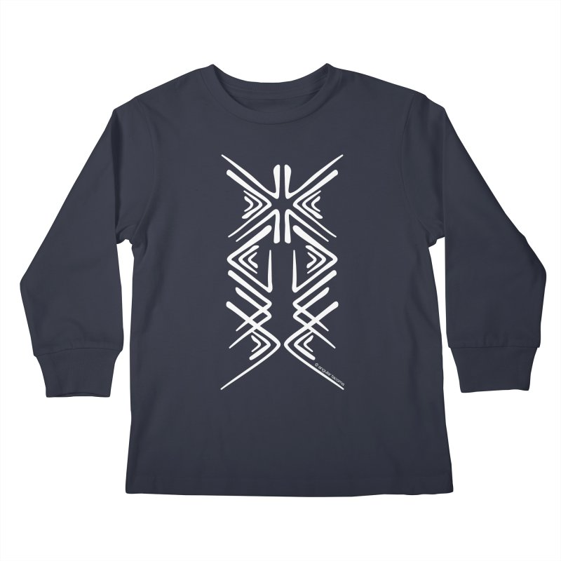 Angular Tacoma - Salish inkblot light Kids Longsleeve T-Shirt by SymerSpace Art Shop