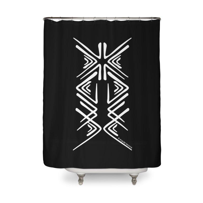 Angular Tacoma - Salish inkblot light Home Shower Curtain by SymerSpace Art Shop