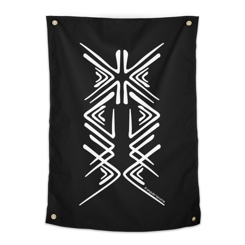 Angular Tacoma - Salish inkblot light Home Tapestry by SymerSpace Art Shop