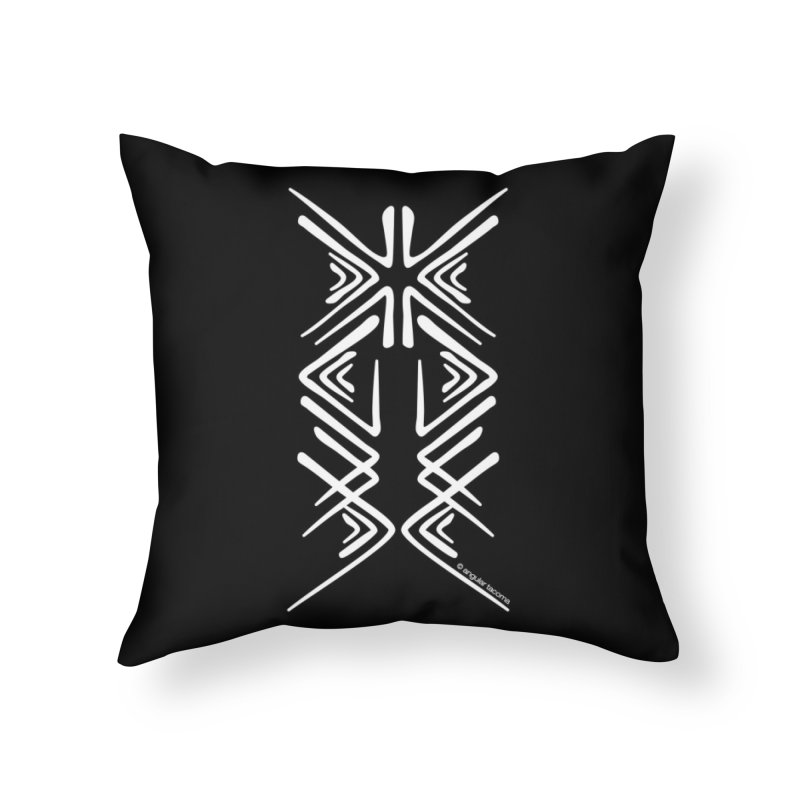Angular Tacoma - Salish inkblot light Home Throw Pillow by SymerSpace Art Shop