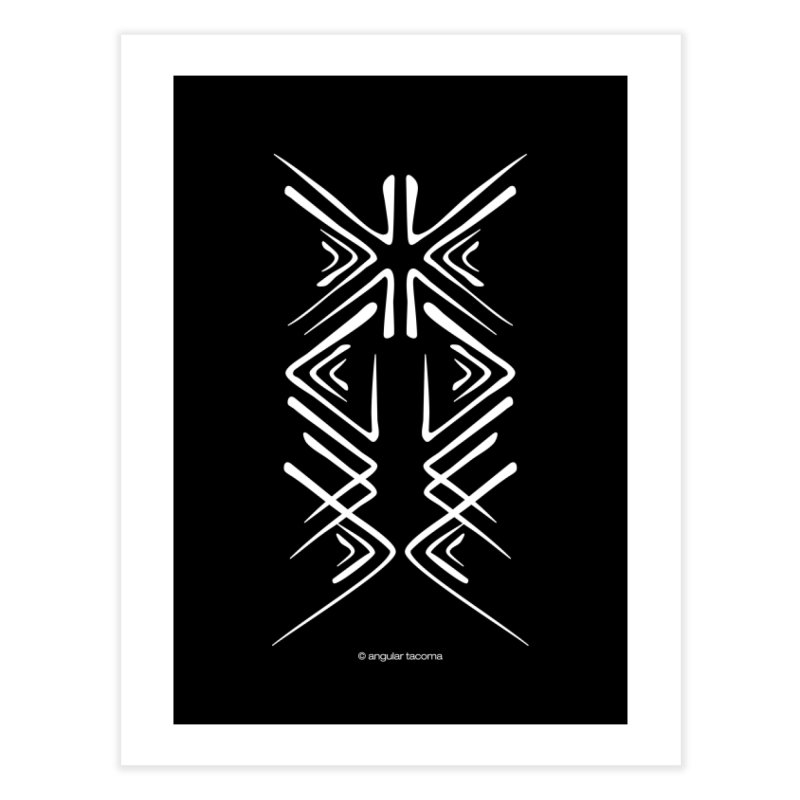 Angular Tacoma - Salish inkblot light Home Fine Art Print by SymerSpace Art Shop