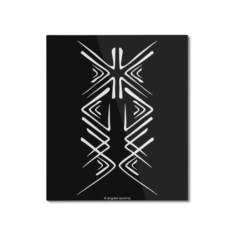 Angular Tacoma - Salish inkblot light Home Mounted Aluminum Print by SymerSpace Art Shop