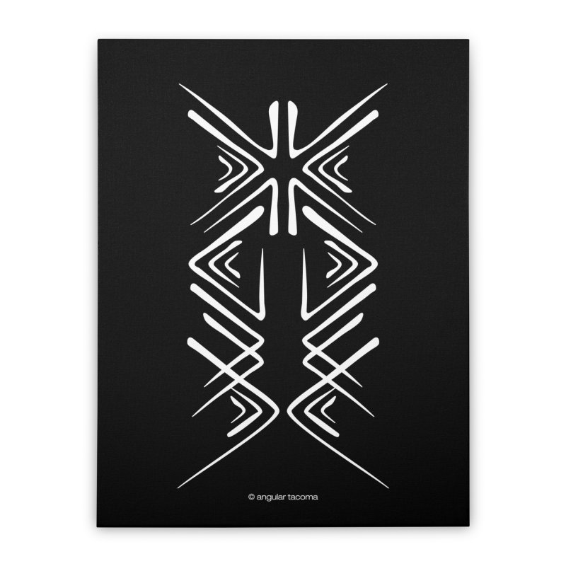 Angular Tacoma - Salish inkblot light Home Stretched Canvas by SymerSpace Art Shop