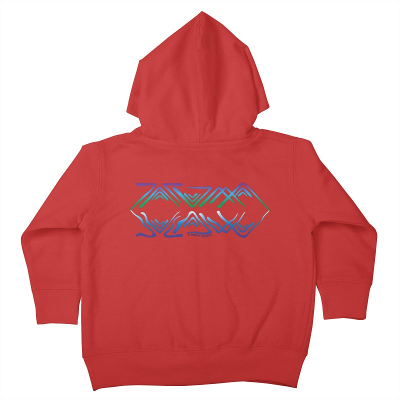 Angular Tacoma - Salish reflections Kids Toddler Zip-Up Hoody by SymerSpace Art Shop