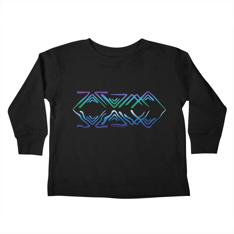 Angular Tacoma - Salish reflections Kids Toddler Longsleeve T-Shirt by SymerSpace Art Shop